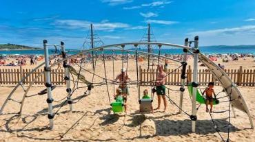 Deportes en la playa del Sardinero