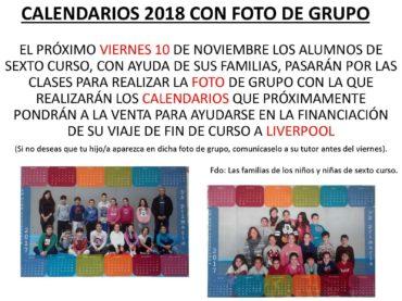Realización de fotografías de grupos de alumnos/as