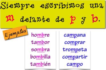 PALABRAS CON -MP Y -MB