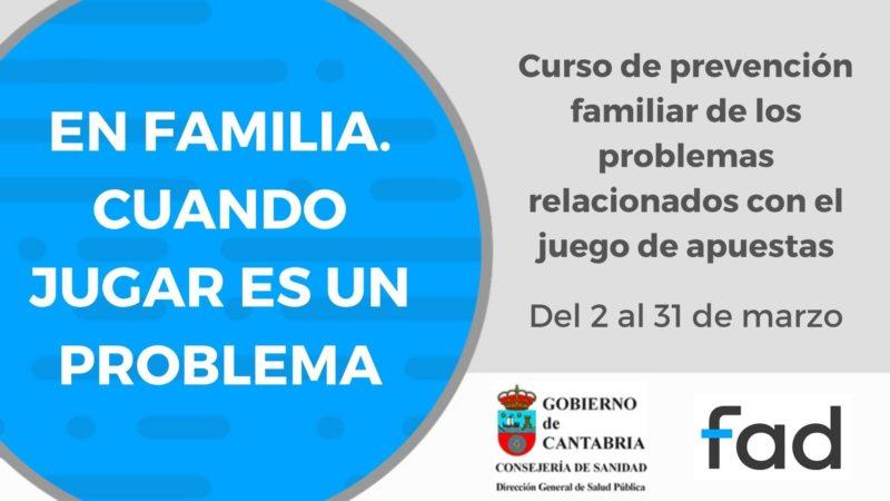 Curso Virtual para padres y madres «CUANDO JUGAR ES UN PROBLEMA»