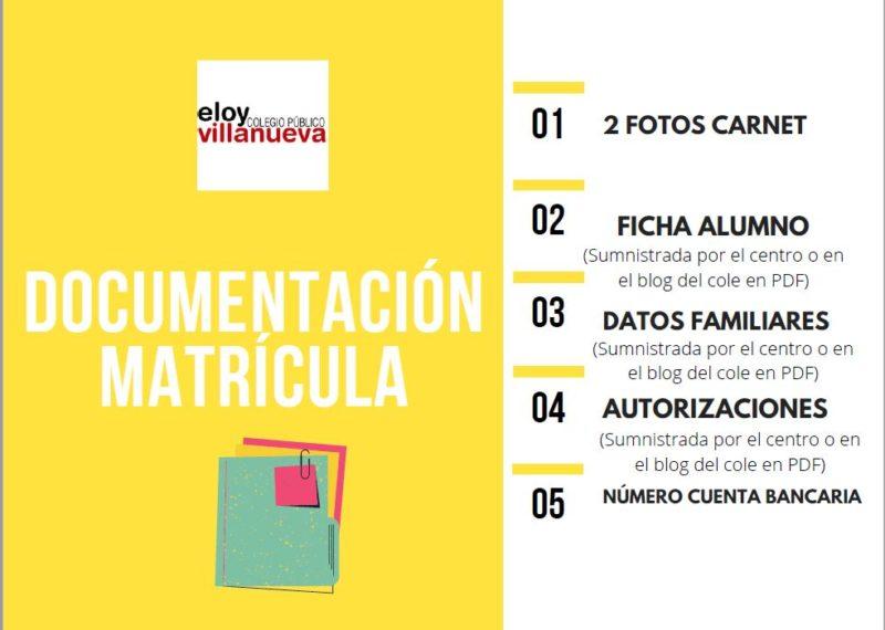 MATRICULACIÓN 21-22